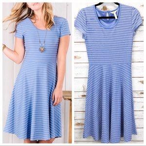Matilda Jane Short Sleeve Striped Dress Sz XS ::